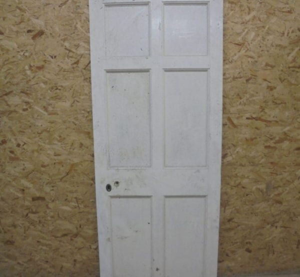 White Painted 6 Panel Door No-Inlay