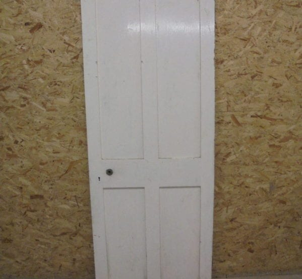 White Painted No-Inlay 4 Panelled Door