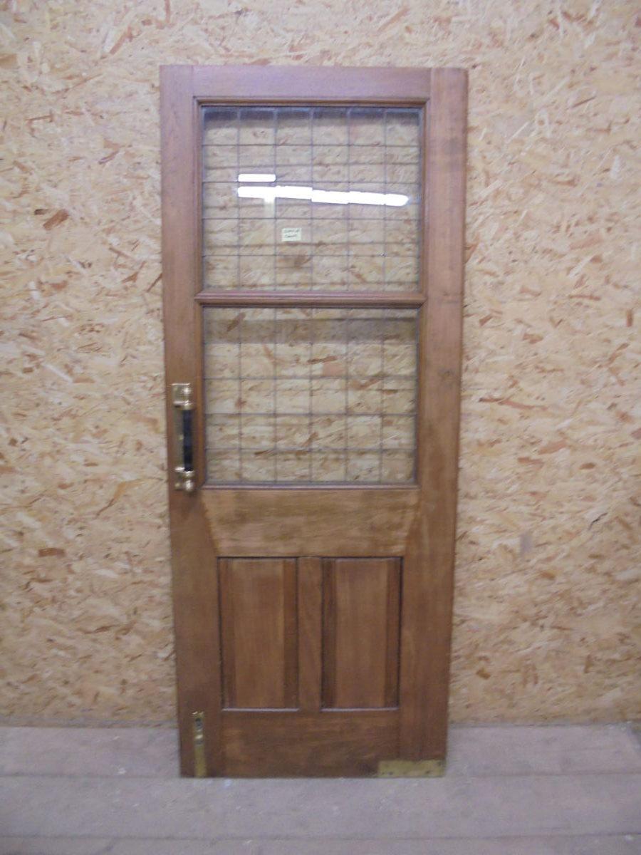Beautiful Solid Oak Half Glazed Door
