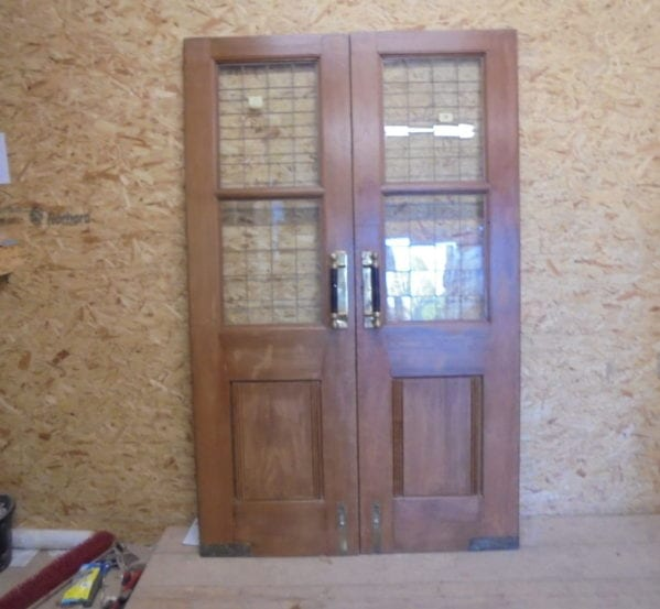 Oak Solid Half Glazed Double Doors