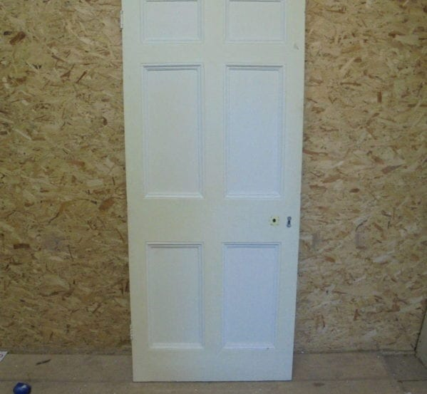 Large Painted 6 Panelled Door