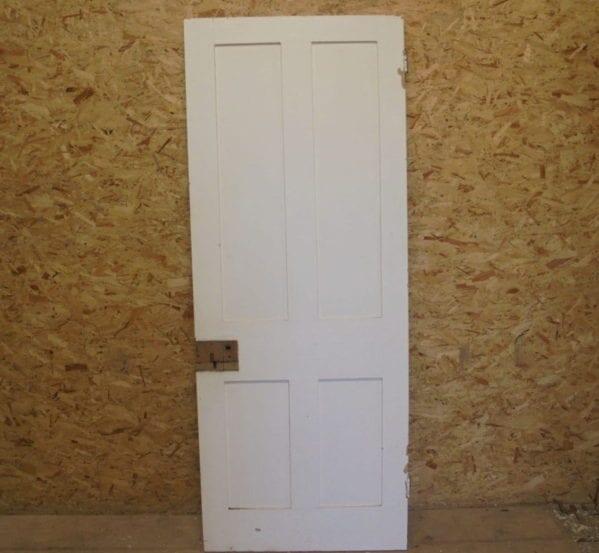 Painted White 4 Panel Door