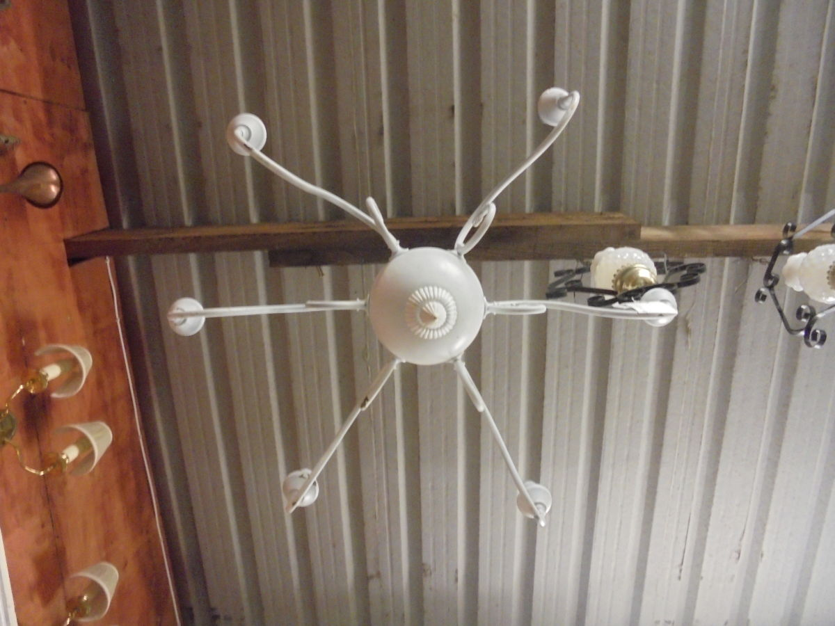 Large White Chandelier
