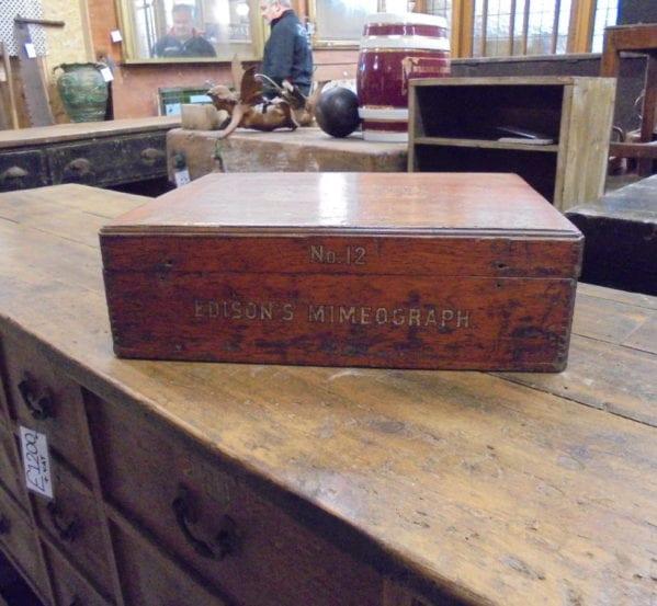 Edison's Mimeograph Box