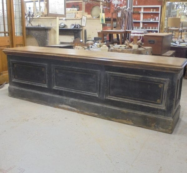 Large Wooden Mid Victorian Shop Counter