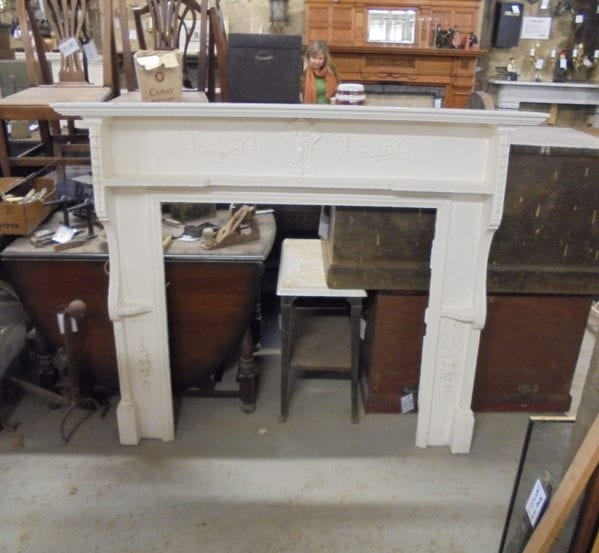 White Painted Wooden Fire Surround
