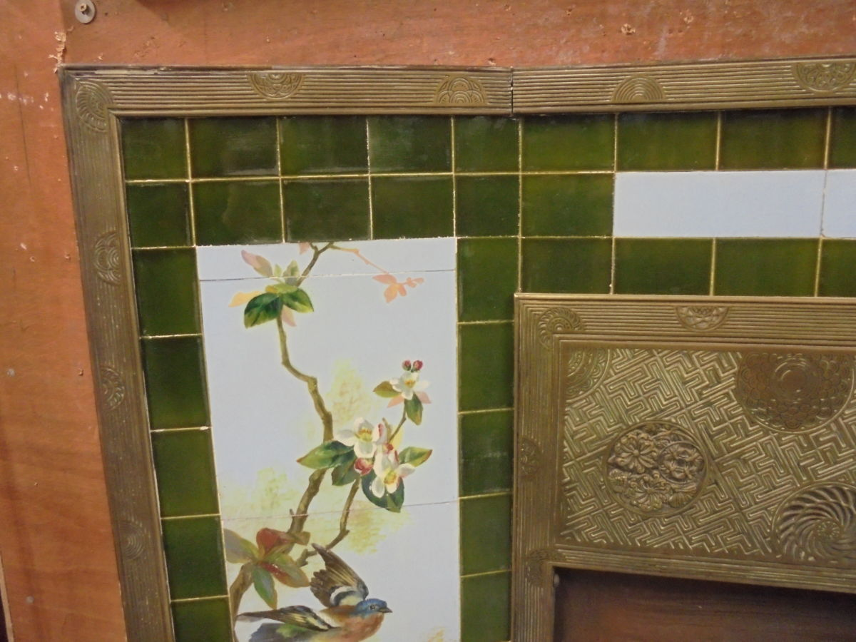 Thomas Jeckyll Fireplace Hand Painted Tiles