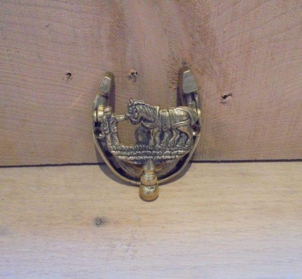Horse Drawn Plough Door Knocker