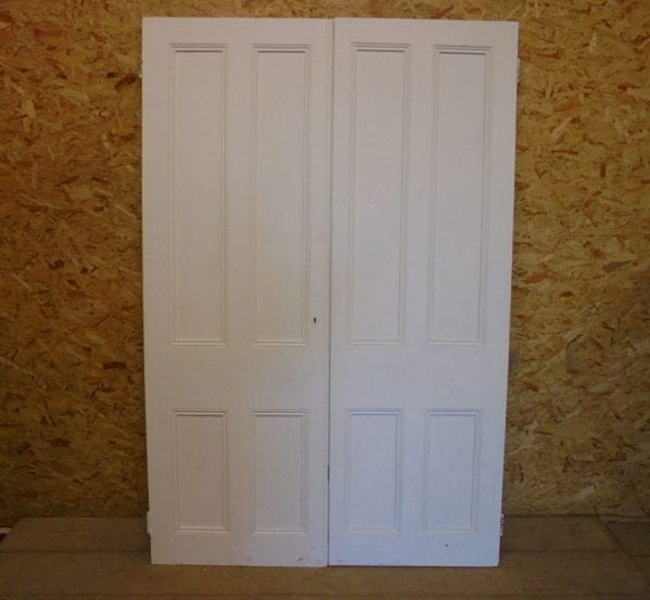 White 4 Panelled Cupboard Pair Doors