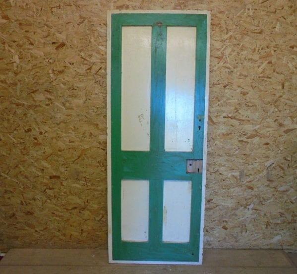 Green & Cream 4 Panelled Door