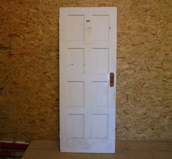 Reclaimed White 8 Panelled Door