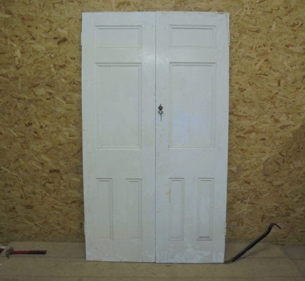 White 4 panelled Cupboard Doors
