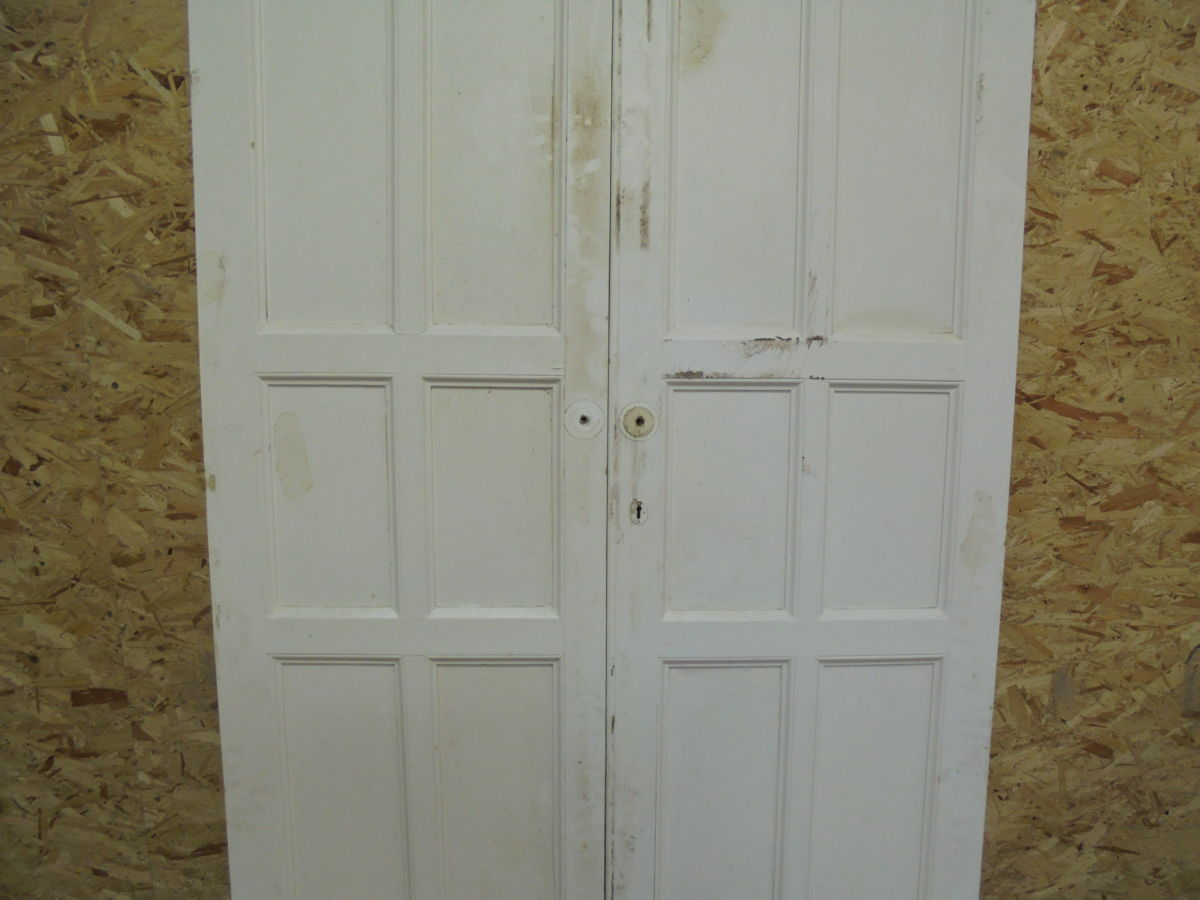 6 Panelled Cupboard Doors White