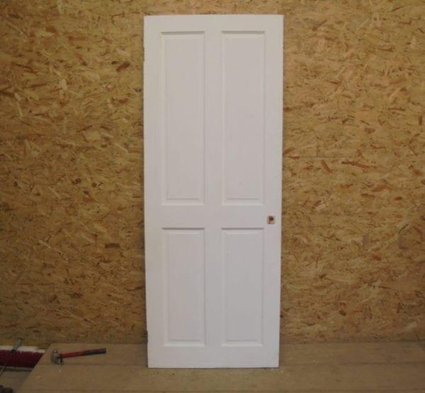 Lovely White 4 Panelled Door
