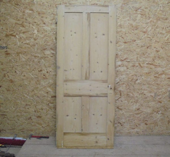 Reclaimed Stripped 4 Panelled Door