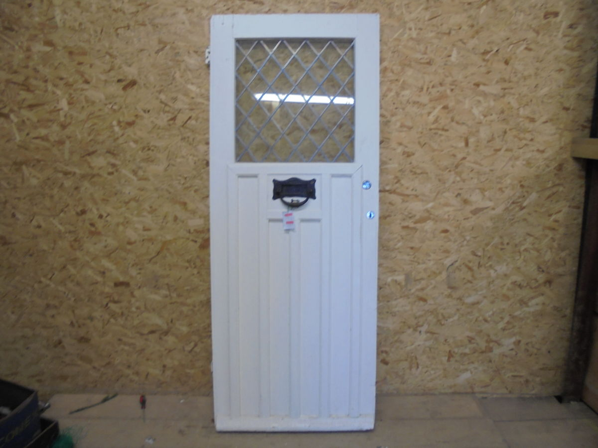 Half Glazed White Front Door