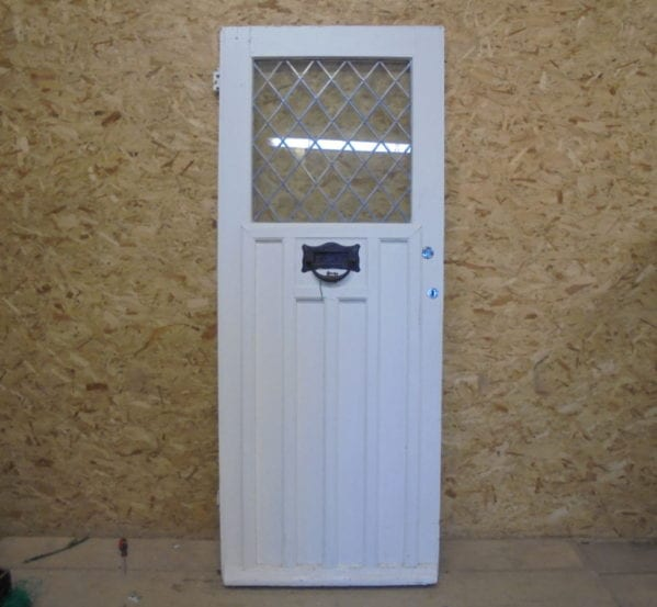 Half Glazed White Front Door