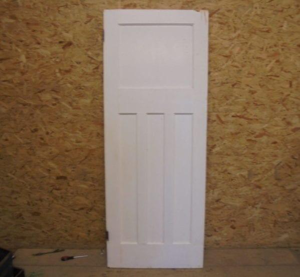 Painted White Door 1 over 3