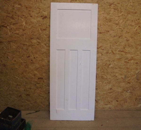 1 Over 3 Panelled White Painted Door