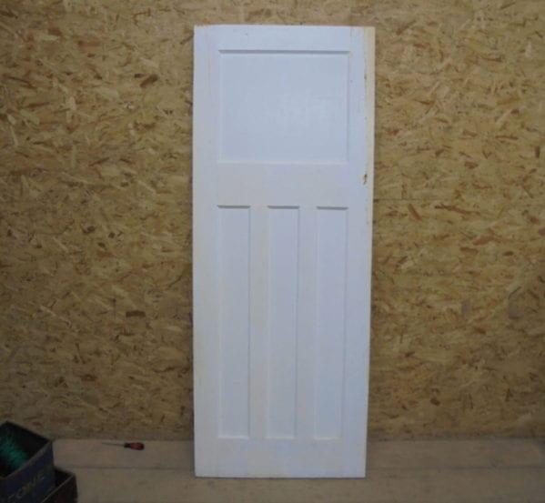 1 Over 3 White Painted Door