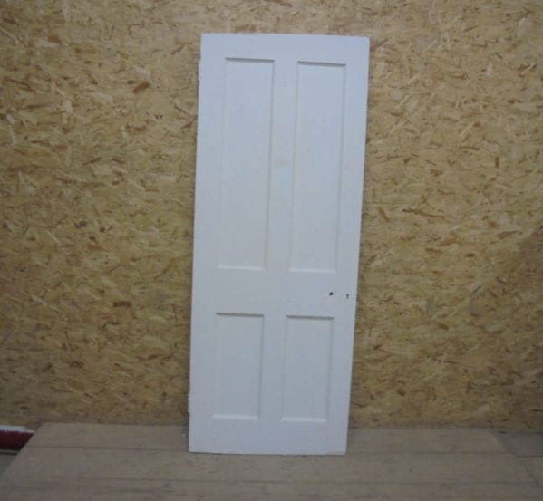 Re-levelled White 4 Panelled Door