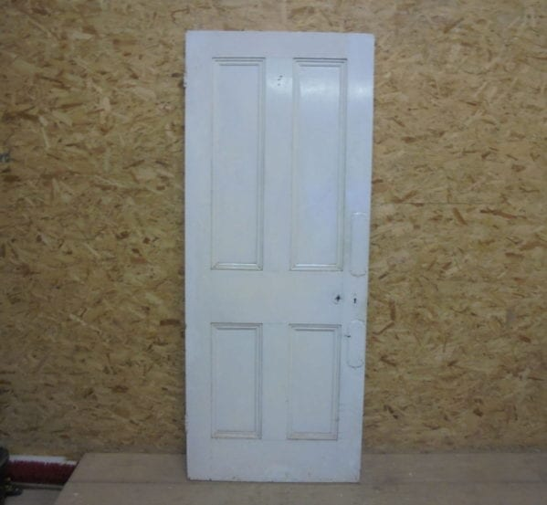 Short White 4 Panelled Door