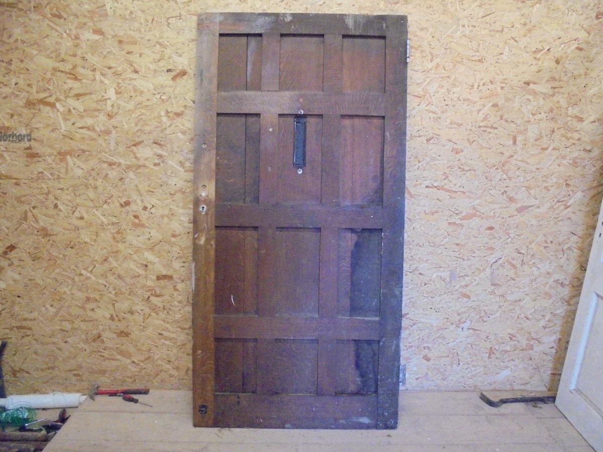 Nicely Weathered Oak Front Door