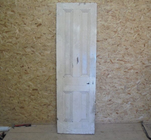 Victorian Thin White 4 Panel Door
