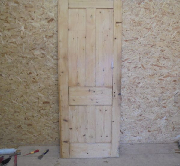 Old Stripped 4 Panelled Door