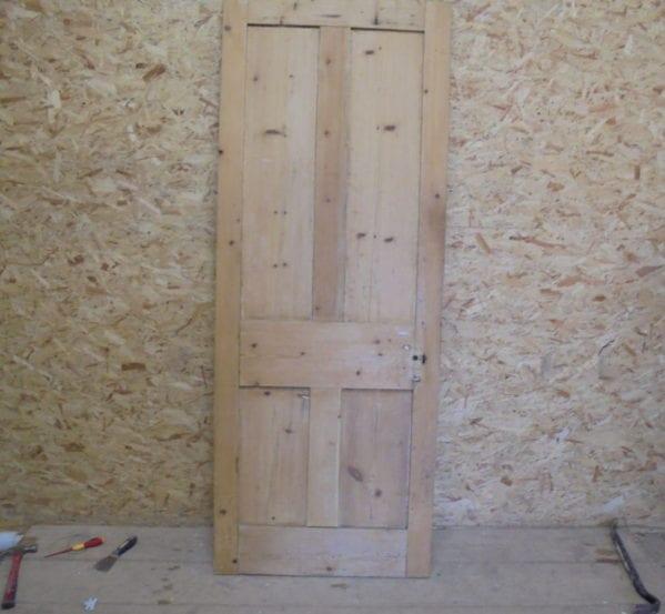 Pine Stripped 4 Panelled Door