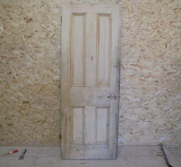 Stripped Pine 4 Panelled Door