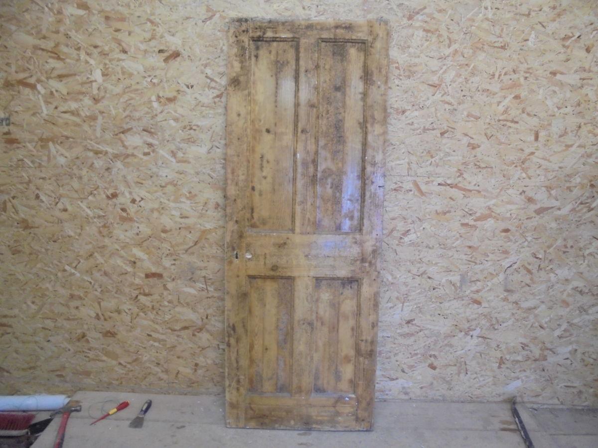 Stripped Nice 4 Panelled Door