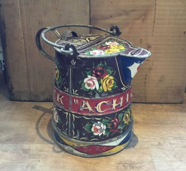 Painted Metal Barge Ware Water Carrier