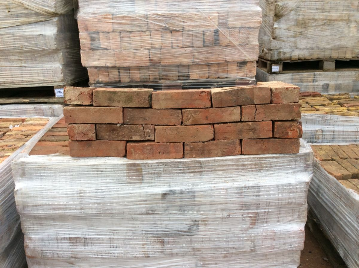 Dark Red Reclaimed Walling Stock Brick