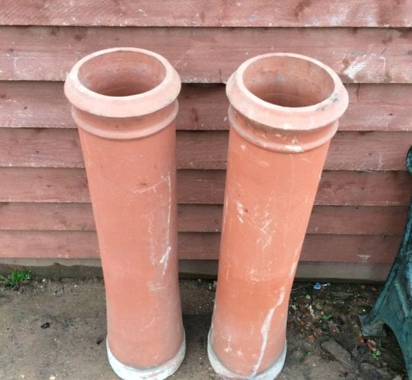 Tall Simplistic Terracotta Chimney Pot