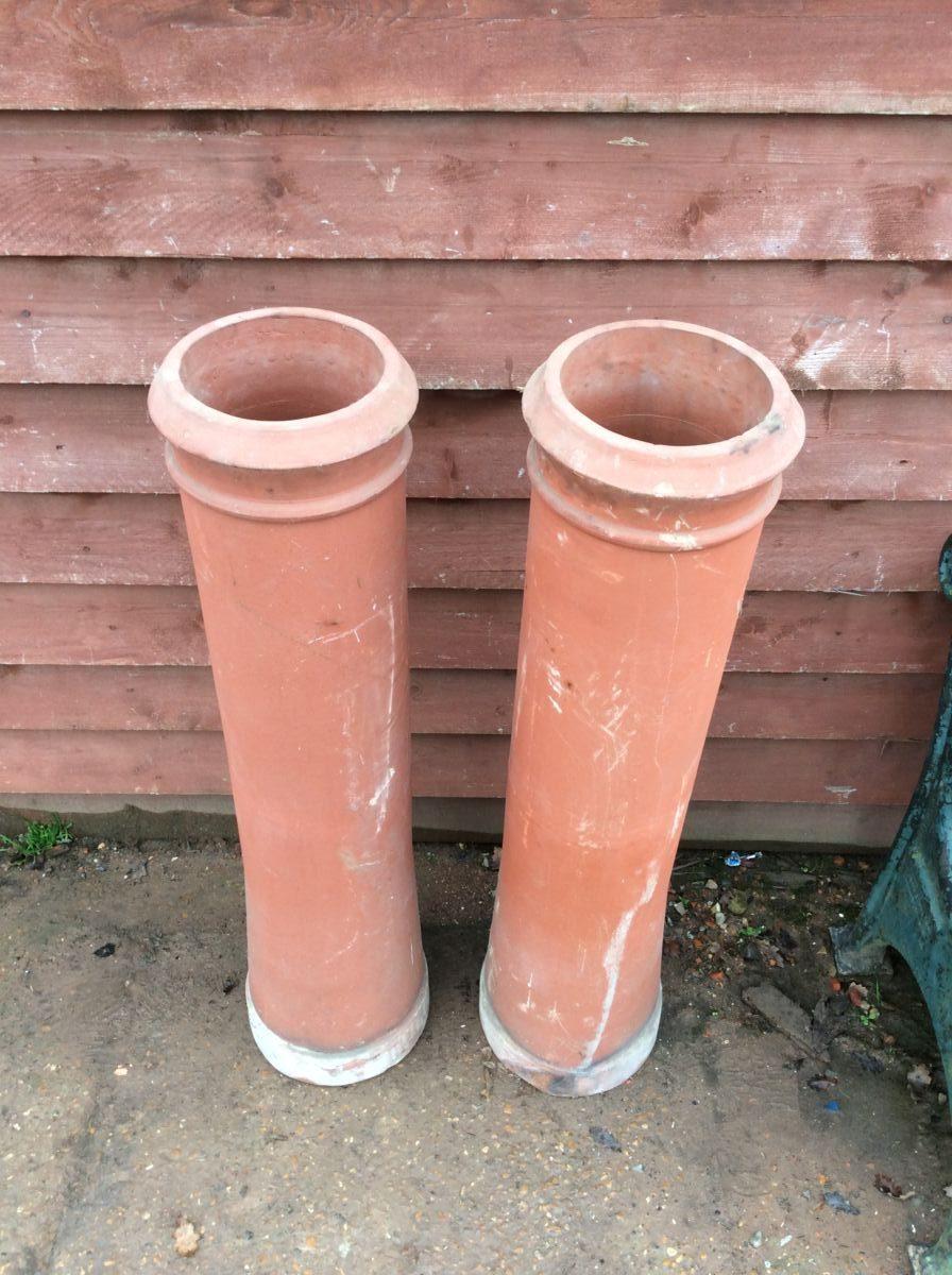Tall Simplistic Terracotta Chimney Pot