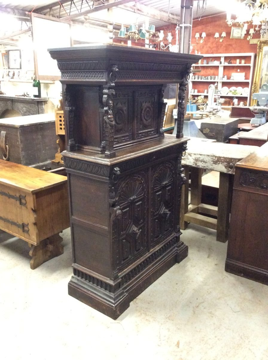 Dutch Dark Wood Dresser