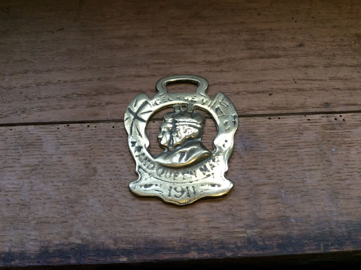 George 5th & Queen Mary Brass Harness Buckle