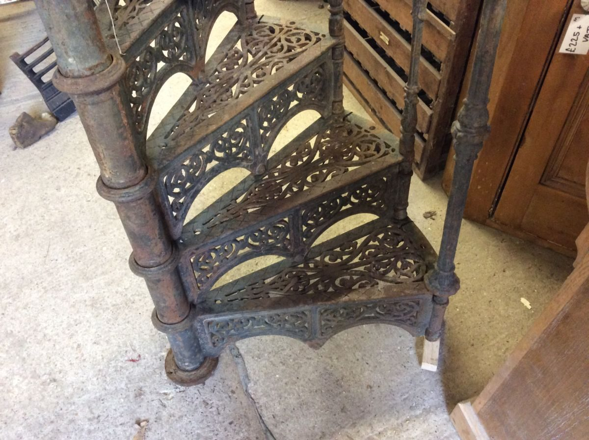 Victorian Cast Iron Spiral Staircase