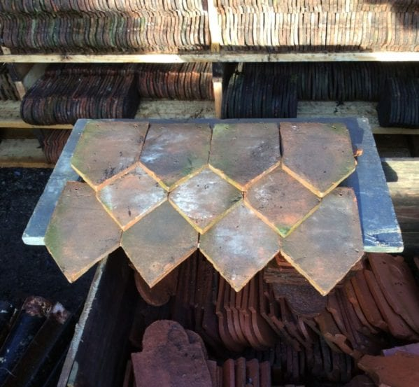 Handmade Ornamental Pointed Clay Tile