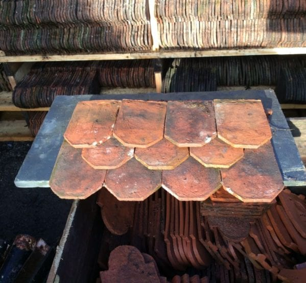 Reclaimed Handmade Ornamental Clay Tile
