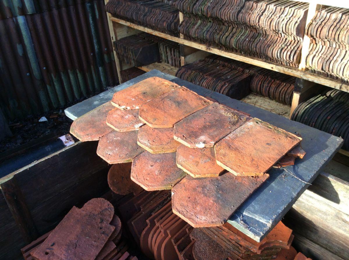 Reclaimed Handmade Ornamental Clay Tile