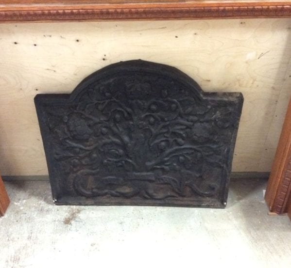 Large Cast Iron Reproduction Fire Back