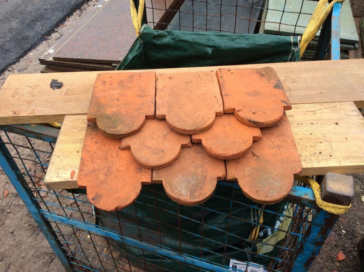 Handmade Orange Reclaimed Club Clay Tile