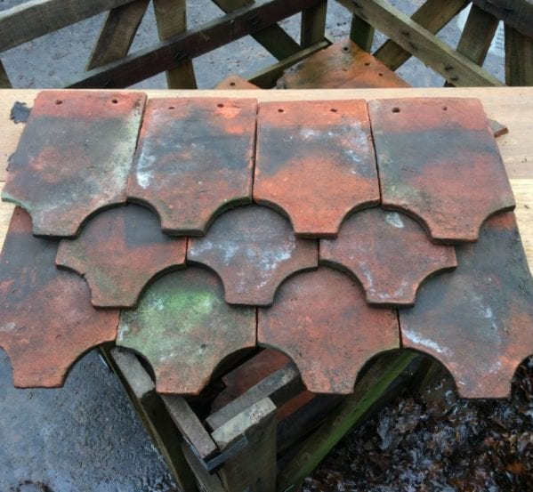 Reclaimed Weathered Fish Tail Clay Tile