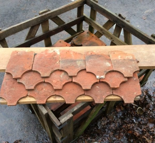 Reclaimed Orange Ornamental Fish Tail Clay Tile