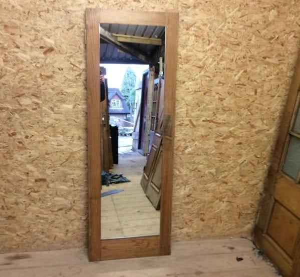 Reclaimed Body Length Mirror Oak Door
