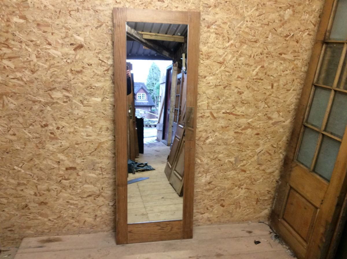 Reclaimed Body Length Mirror Oak Door