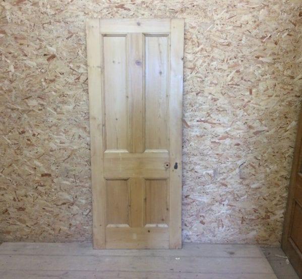 Reclaimed Pine 4 Panel Stripped Door