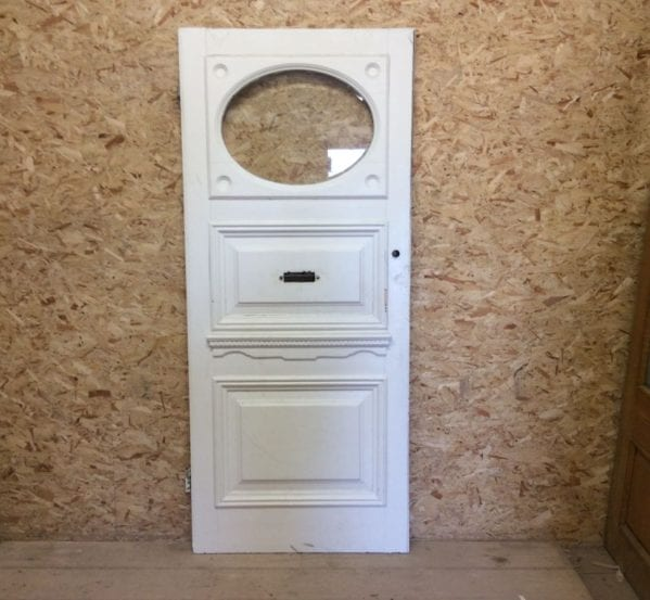 Reclaimed White Painted Front Door